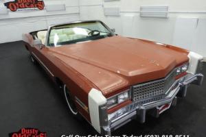 1975 Cadillac Eldorado Runs Drives Body Inter Good 500CI V8 3 spd auto