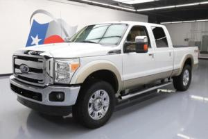 2011 Ford F-250 LARIAT CREW FX4 4X4 LEATHER NAV 20'S
