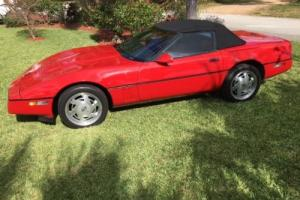 1989 Chevrolet Corvette Red/Red