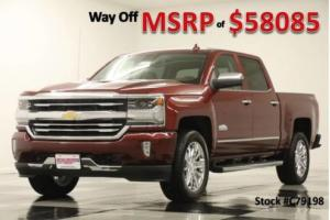 2017 Chevrolet Silverado 1500 MSRP$58085 4X4 High Country Sunroof Red Crew 4WD