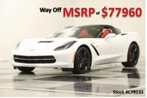 2017 Chevrolet Corvette MSRP$77960 Z51 3LT GPS Leather Arctic White Coupe