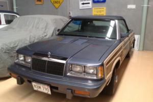 1986 CHRYSLER LEBARON CONVERTIBLE  MARK CROSS TOWN & COUNTRY