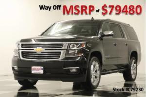 2017 Chevrolet Suburban MSRP$79480 4X4 Premier DVD Sunroof GPS Leather Black 4WD