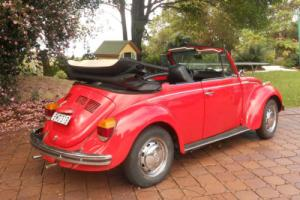 1973 Volkswagon Superbeetle Convertible 1600cc Left hand drive NO RUST