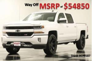 2017 Chevrolet Silverado 1500 4X4 MSRP$54850 2LT Z71 White Crew 4WD