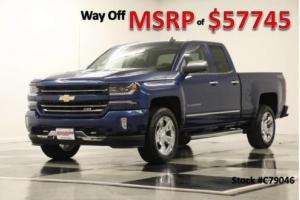 2017 Chevrolet Silverado 1500 MSRP$57745 4X4 Z71 LTZ GPS 6.2L Blue 4WD