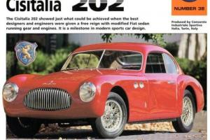 "1947 - 1952  CISITALIA  202   FACT  SHEET - 9 "" X  15 1/2 "" Photo"