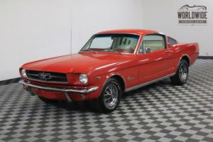 """1965 Ford Mustang RESTORED! FASTBACK 2+2 """"A"""" CODE V8 4-SPEED"""