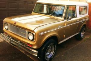 1970 International Harvester Scout Gold SR2 V8, 1 of 500 Made Photo