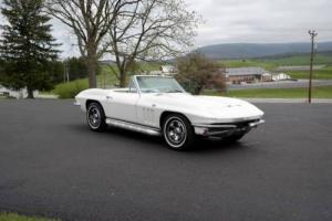 1966 Chevrolet Corvette White/Saddle*#sMatch300hp*4spd*Rare Radio Delete*