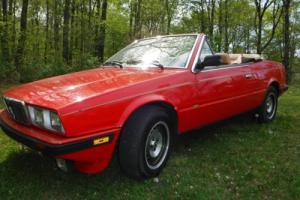 1986 Maserati Spyder BiTurbo