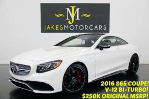 2016 Mercedes-Benz S-Class S65 AMG V12 BI-TURBO Coupe ($250K MSRP)