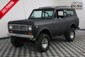 1977 International Harvester Scout RESTORED. 304 V8 A/C! P/S. P/B CONVERTIBLE!
