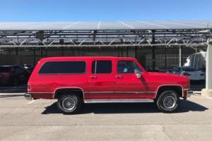 1989 GMC Suburban SLE 4X4 RED FUEL INJECTION RARE CHEVROLET GMC
