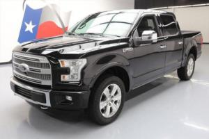 2015 Ford F-150 PLATINUM 5.0 CREW 4X4 NAV REAR CAM