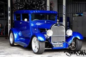 1928 Ford Custom Tudor Hot Rod. Suit Hotrod highboy coupe roadster classic Photo