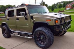 """2005 Hummer H2 SUT Lift 20"""" Rims 37 Mud Tires Leather Tow"""