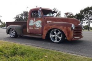 1950 chev pickup ratrod hotrod truck chevrolet chevy v8 ute one tonner Newcastle