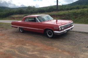 1963 Chevrolet Impala 2 Door pillarless coupe