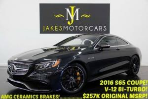 2016 Mercedes-Benz S-Class S65 AMG V12 BI-TURBO Coupe ($257K MSRP)....($68,000 OFF NEW!)