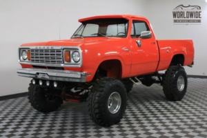 1977 Dodge Power Wagon 440 V8 MOPAR HUGGER ORANGE SHORT BED