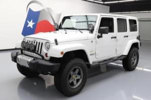 2011 Jeep Wrangler SAHARA 4X4 AUTO HTD LEATHER NAV