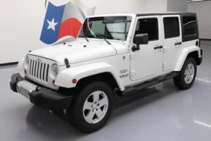 2012 Jeep Wrangler UNLTD SAHARA 4X4 HARD TOP NAV