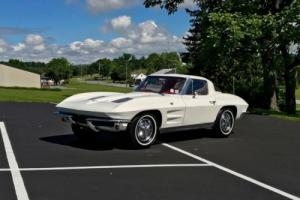 1963 Chevrolet Corvette Restored*#sMatch250hp*Auto*White/Red*SplitWindow Photo