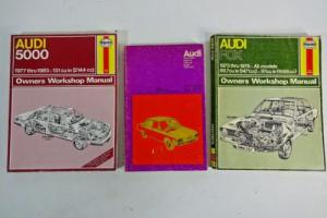 LOT 3 - SERVICE REPAIR SHOP MANUALS - 1970s 1980s AUDI 5000 FOX Super 90 100 LS