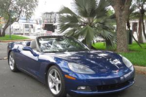 2007 Chevrolet Corvette Rare LeMans Blue Corvette Convertible Premium Photo