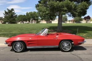 1963 Chevrolet Corvette STRINRAY 2ND OWNER LOW ORIGINAL MILES RED ROADSTER