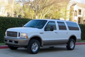 2003 Ford Excursion 7.3L DIESEL 4X4 EDDIE BAUER QUAD SEATS 2002 GARAGE