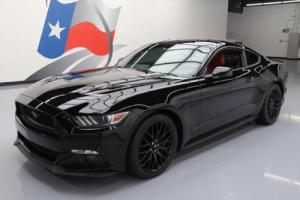 2016 Ford Mustang GT PREM 5.0 6-SPD RED LEATHER NAV