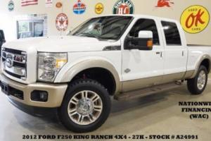 2012 Ford F-250 King Ranch 4X4 DIESEL,ROOF,BACK-UP,HTD/COOL LTH,27K!