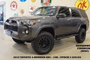 2015 Toyota 4Runner SR5 Premium 4X4 LIFTED,ROOF,NAV,HTD LTH,BLK WHLS,19K!