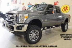 2012 Ford F-250 Lariat 4X4 LIFTED,ROOF,NAV,HTD/COOL LTH,XD WHLS,89K!