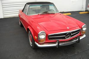 1971 Mercedes Benz 280SL Red with Parchement MB Text
