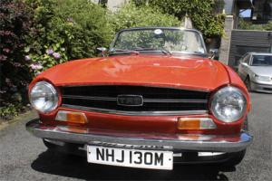 restored 1973 Triumph TR6 125 bhp in pimento red taxed and tested