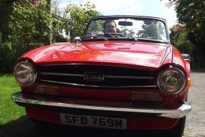 Triumph Tr6 Overdrive Pimento red