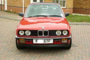 1988 BMW 320I CONVERTIBLE CABRIO AUTO RED, LOW MILEAGE, ORIGINAL - BEAUTIFUL