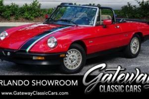 1986 Alfa Romeo Spider Graduate Edition for Sale