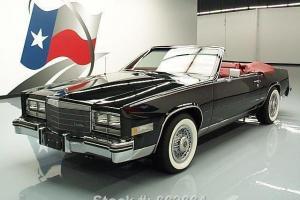 1985 CADILLAC ELDORADO BIARRITIZ CONVERTIBLE ONLY 80K!! TEXAS DIRECT AUTO
