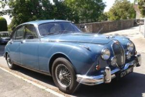 1962 Jaguar Mark 2 Mk2 MkII 3.4, manual overdrive, Cotswold Blue