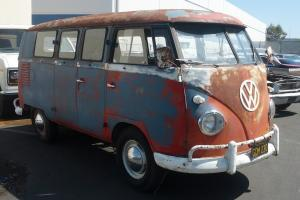 1960 VOLKSWAGEN ORIGINAL PAINT DOUBLE DOOR CAMPER VAN PANEL VAN PROJECT  Photo