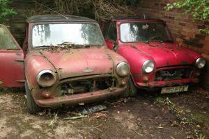 MORRIS MINI COOPER S x 2 Restoration projects classic 1963