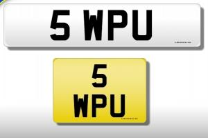 5 WPU, Personal, private, cherished registration number, 5 WPU, 5WPU, SWPU