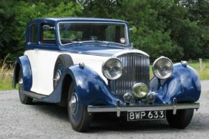 1938 Bentley 4 1/4 Park Ward Pillarless Sports Saloon B78LS  Photo
