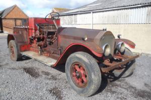 1924 American La France Fire truck 14.5 liter straight six chain drive .