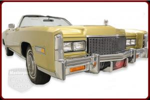 76 Eldorado Convertible 500 ci 8.2 Liter V8 3 Speed Automatic Gold