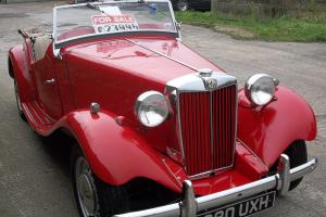 MG TD, 1950, RED, RHD, Fully Restored. Stunning example.